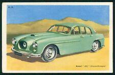 Tobler advertising Automobile car Bristol cars 405 UK England old 1950s postcard