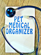 Pet Medical Organizer Pet Planner Pet Health Record Emergency Health Record