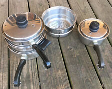 SALADMASTER Miscellaneous Lot Double Boiler With Strainer, Sauce Pan