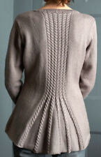 "Woman Ladies Fitted Cable Vent Peplum Jacket 32"" -42"" DK  Knitting Pattern"
