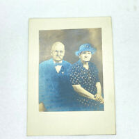 Vintage Antique PHOTO GRANDMA & GRANDPA Hamilton Portrait B&W Black & White