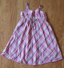 3p LOT Gap Justice Dress Size 12 XL Halter Cruise White Black Pink Madras Brown