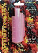 Wildfire 1/2 Oz 18 OC Self Defense Pepper Spray Black Injection Molded Keychain