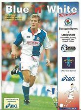 Football Programme>BLACKBURN ROVERS v LEEDS UNITED Jan 1994