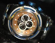 Invicta Men's Rare Bolt Swiss Reserve Chrono Black MOP Dial Steel Watch 0829