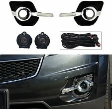 '10 - '15 CHEVY EQUINOX CK OE STYLE FOG LIGHT KIT LAMPS BEZELS HARNESS & SWITCH