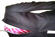 38R Suit black Shiny VERSACE 2 PIECE Suit VIP SIGNATURE LOGO ON LINER  38US=48E