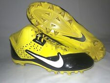 Nike Alpha Strike 3/4 Men's Football Cleats Yellow & Black Dual Pulls Size 14