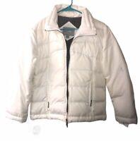 Polar Edge Women's Goose Down Puffer Jacket White Size Medium