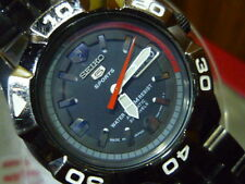 Seiko 5 Sports 100m  7S36 -02L0 Divers 41mm Original Black SS Strap