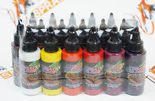 17 colors + reducer Createx Illustration Color Wheel Set 2oz. airbrushing paint