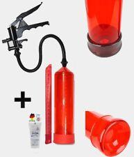 Potenzpumpe Penispumpe Vakuum Pumpe 20-cm-Scala + 1 x Gel kolo FirePump Rot 014