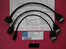 Cable de interfaz de medios Genuine Mercedes plomo AUX IPOD IPHONE USB MP3 A1668270104