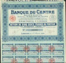BANQUE DU CENTRE 1930 (LIMOGES 16) (H)