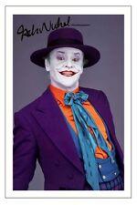 JACK NICHOLSON BATMAN THE JOKER SIGNED AUTOGRAPH PHOTO PRINT