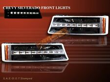 03-06 CHEVROLET SILVERADO/AVALANCHE G2 BLACK LED BUMPER SIGNAL LIGHTS AMBER