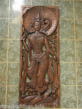 Beautiful Hand Carved Teak Wood Picture of a princess  88cm-33cm