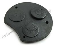 for Smart Roadster Fortwo Forfour 3 Button Remote Key Fob Rubber Button Pad