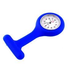 Portable Nurse Pocket Watch Dark Blue Round Dial Brooch Design Pin Tunic Fob Hot