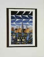 "Roger Brown  "" I Love New York "" Matted off-set Color Lithograph 1998"