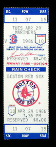 ROGER CLEMENS 1ST 20 K STRIKEOUT GAME TICKET 4/29/1986 vs MARINERS