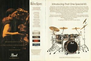 2003 2pg Print Ad Pearl Masters RetroSpec MSX Drum Kit w Ian Paice Deep Purple