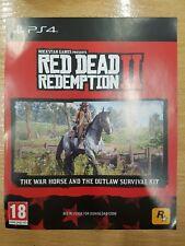 PS4 Red Dead Redemption 2 Cheval de guerre et Outlaw kit de survie DLC Code no game