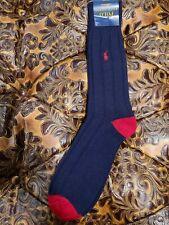 Polo Ralph Lauren Mens Ribbed Navy Blue Lambswool Wool Socks NWT