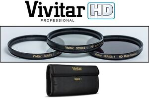 3-Pcs vivitar UV Polarizer and FLD Filter Kit For Canon EOS M6 M50