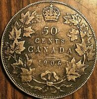 1906 CANADA SILVER 50 CENTS COIN - Nicer example!