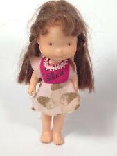 Vintage Holly Hobbie 6 inch Poseable Doll w Ice Cream Shirt Dress 1976