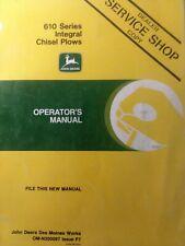 John Deere Farm Field 610 Series Integral Chisel Plow Implement Owners Manual