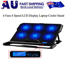 "Laptop Cooler Pad USB 6 Fans CPU Coolers Radiator Cooling Stand for 17"" Laptop"
