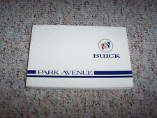 1996 Buick Park Avenue Owner Owner's Manual User Guide 3.8L V6 Ultra