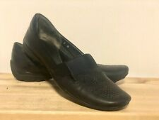Sesto Meucci Womens Black Leather Loafers size 7