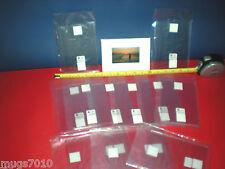 "New Clear Plastic 4"" x 6"" Adhesive Qube-Frame Omni Backing 12- Pack"