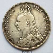 More details for 1890 queen victoria silver florin 2 shilling coin, good grade with nice detail.