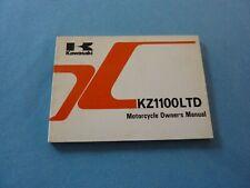 KAWASAKI KZ1100  OWNER'S MANUAL OWNERS  KZ1100-L1 KZ 1100 LTD