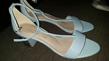 ladies autograph M & S SANDALS SIZE 8 blue leather bnwt 35.00 RRP PRICE 55.00