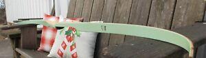 """Rare 1950's Bear Ranger Recurve Bow Lime Green Glass, pre Medallion RH 32# 62"""""""