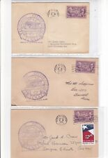 "#776 Fort Stockton TEXAS Centennial 3 Covers 6/11/1936 ""Applied Old Guard House"""