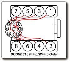 Dodge Ram 318 5.2L Firing Order Plug Wire Diagram Decal Sticker
