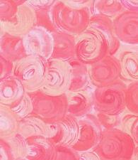 Bubble Gum Pink Orbs Swirl Quilt Fabric - 1 Fat Quarter