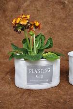 Jardinere,Übertöpfe,Planting,Landhaus,weiß/grau,oval,20cm,2er Set