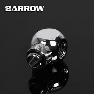 """Barrow G1/4"""" Silver Rotary Cuboid T (3 way) Fitting Adapter - 155"""