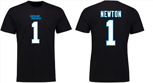 Carolina Panthers NFL T-Shirt Men's Cam Newton 1 T-Shirt - Black - New