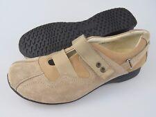 HELVESKO Swiss Made Beige Tan Suede Leather Slip On Shoes Women's EU 42 US 11.5