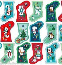 Makower Frosty Stiefel Advent Adventskalender Stoffe Weihnachtsstoff Weihnachten
