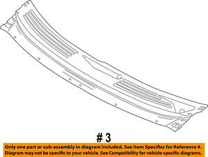 FORD OEM-Cowl Grille 9T4Z78022A68AA
