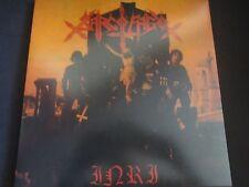 "Sarcofago ""I.N.R.I"" LP w/gate-fold sleeve & Insert. Orange Vinyl. VERY RARE !"